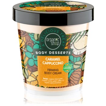 Organic Shop Body Desserts Caramel Cappuccino crema de corp pentru fermitatea pielii