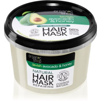 Organic Shop Natural Avocado & Honey masca de par regeneratoare imagine