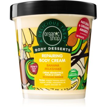 Organic Shop Body Desserts Banana Milkshake cremã de corp regeneratoare poza