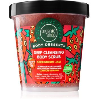 Organic Shop Body Desserts Strawberry Jam peeling de curã?are profundã pentru corp poza