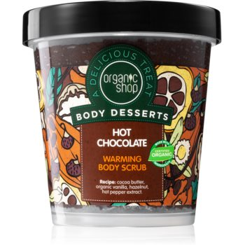 Organic Shop Body Desserts Hot Chocolate Exfoliant hrãnitor pentru corp poza