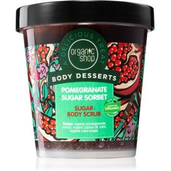 Organic Shop Body Desserts Pomegranate exfoliant din zahãr, pentru înviorare pentru corp poza