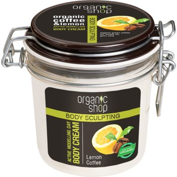 Organic Shop Body Sculpting Lemon Coffee crema delicata efect de remodelare.