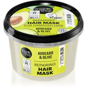 Organic Shop Organic Avocado & Honey masca de par regeneratoare imagine