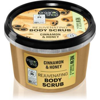 Organic Shop Organic Cinnamon & Honey exfoliant delicat pentru corp poza