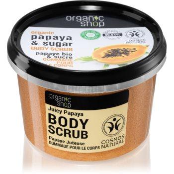 Organic Shop Organic Papaya & Sugar exfoliant de corp cu zahãr poza