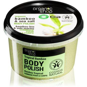 Organic Shop Organic Bamboo & Sea Salt exfoliant energizant pentru corp poza