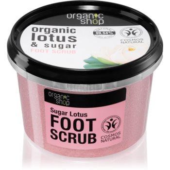 Organic Shop Organic Lotus & Sugar exfoliant din zahar pentru picioare poza