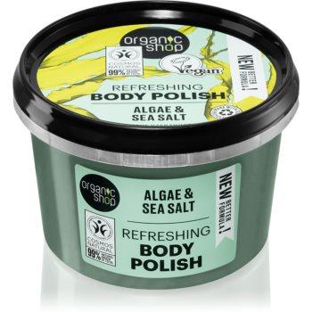 Organic Shop Organic Algae & Sea Salt exfoliant pentru corp poza