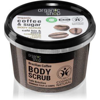 Organic Shop Organic Coffee & Sugar exfoliant de corp, cu cafea poza