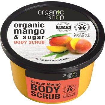 Organic Shop Body Scrub Mango & Sugar exfoliant corporal pentru piele mătăsoasă și netedă