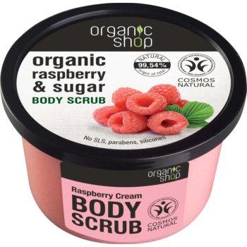 Organic Shop Body Scrub Ruspberry & Sugar exfoliant delicat pentru corp