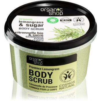 Organic Shop Organic Lemongrass & Sugar crema delicata pentru exfoliere pentru corp poza