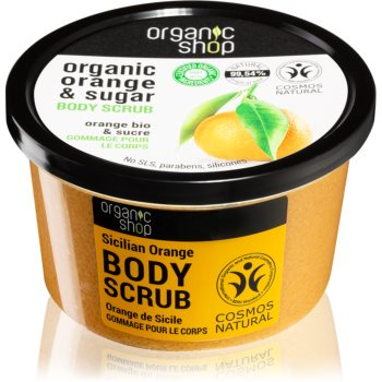 Organic Shop Organic Orange & Sugar exfoliant tonifiant pentru corp poza