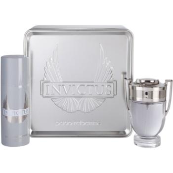 Paco Rabanne Invictus dárková sada III. toaletní voda 100 ml + deodorant ve spreji 150 ml