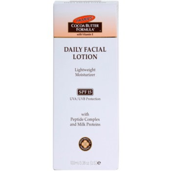 Palmer's Face & Lip Cocoa Butter Formula hidratante leve SPF 15 2