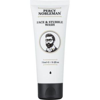 Percy Nobleman Face & Stubble gel de curatare pentru fata si barba