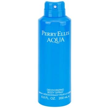 Perry Ellis Aqua spray pentru corp pentru barbati 200 ml