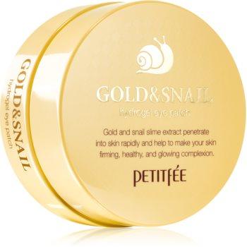 Petitfee Gold & Snail masca hidrogel pentru ochi extract de melc