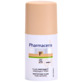 Pharmaceris F-Fluid Foundation Make-up lichid matifiant SPF 25 culoare 01 Ivory  30 ml