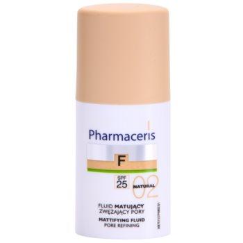 Pharmaceris F-Fluid Foundation Make-up lichid matifiant SPF 25 culoare 02 Natural  30 ml