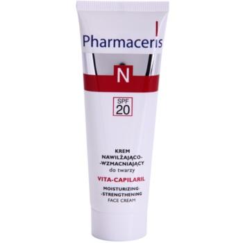 Fotografie Pharmaceris N-Neocapillaries Vita-Capilaril hydratační a posilující pleťový krém pro citlivou pleť se sklonem ke zčervenání SPF 20 50 ml