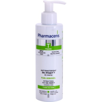 Pharmaceris T-Zone Oily Skin Puri-Sebogel антибактериален почистващ гел за проблемна кожа, акне