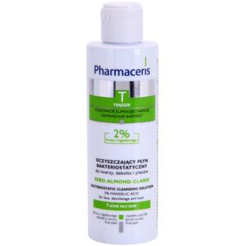 Pharmaceris T-Zone Oily Skin Sebo-Almond-Claris Lapte demachiant pentru tenul gras ?i problematic pentru fata si decolteu imagine produs