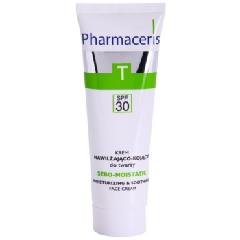 Pharmaceris T-Zone Oily Skin Sebo-Moistatic crema calmanta si hidratanta pentru piele uscata si iritata in urma tratamentului antiacneic