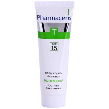 Pharmaceris T-Zone Oily Skin Octopirox crema de zi impotriva inrosirii pentru ten gras si problematic