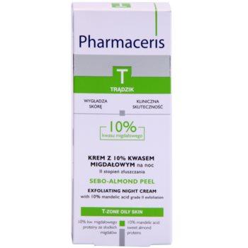 Pharmaceris T-Zone Oily Skin Sebo-Almond Peel Nachtcreme zur Regulation und Reinigung zur Erneuerung der Hautoberfläche 3