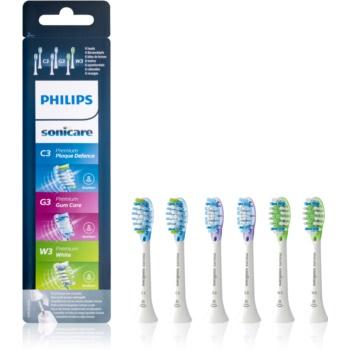 Philips Sonicare Premium HX9076/07 capete de schimb pentru periuta de dinti 6 bucati