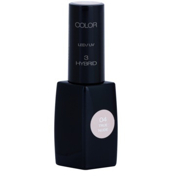 Fotografie Pierre René Nails Hybrid gelový lak na nehty s použitím UV/LED lampy odstín 04 True Nude 11 ml