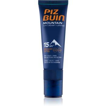 Piz Buin Mountain ochranný krém na obličej a balzám na rty 2 v 1 SPF 15 20 ml