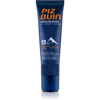Piz Buin Mountain crema pentru fata si balsam pentru buze cu efect protectiv 2in1 SPF 15