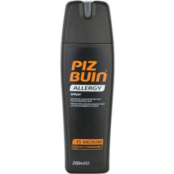 Piz Buin Allergy spray pentru bronzat SPF 15