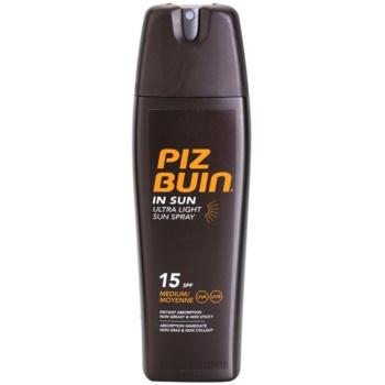 Fotografie PIZ BUIN SPF15 In Sun Ultra Light Spray 200ml