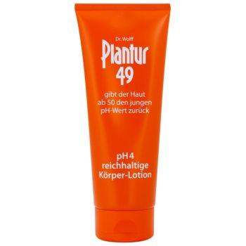 Fotografie Plantur 49 výživné tělové mléko pro omlazení pokožky pH 4 200 ml
