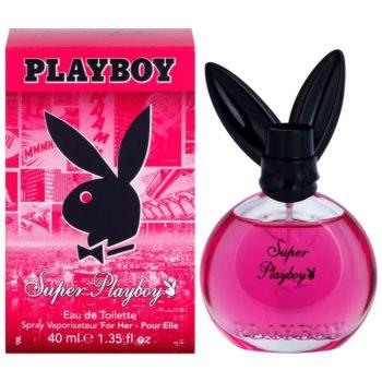Playboy Super Playboy for Her Eau de Toilette pentru femei 40 ml