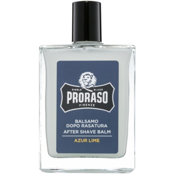 Proraso Azur Lime balsam hidratant dupa barbierit textura hranitoare