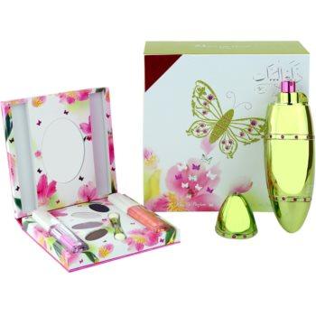 Rasasi Al Banat Bheja eau de parfum + fard ochi + eyeliner + lip gloss pentru femei
