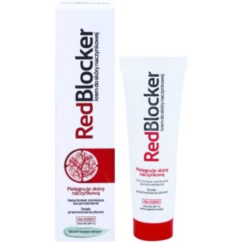RedBlocker Day Creme mit natürlichen grünen Pigmenten zum Reduzieren von Hautrötungen SPF 15 1
