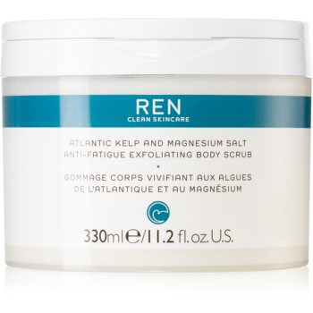 REN Atlantic Kelp And Magnesium Salt Anti-Fatigue Exfoliating Body Scrub exfoliant energizant pentru corp cu efect de hidratare poza