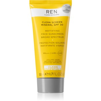REN Clean Screen Mineral SPF 30 protectie solara mata pentru fata SPF 30