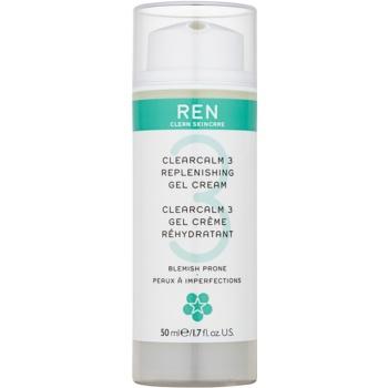 REN ClearCalm 3 Gel crema care completează hidratarea tenului gras
