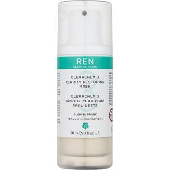 REN ClearCalm 3 masca iluminatoare pentru ten acneic
