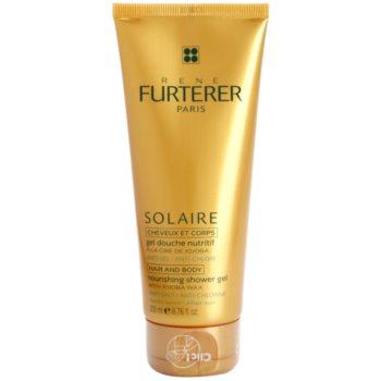 Fotografie Rene Furterer Solaire vyživující sprchový gel na vlasy i tělo 200 ml