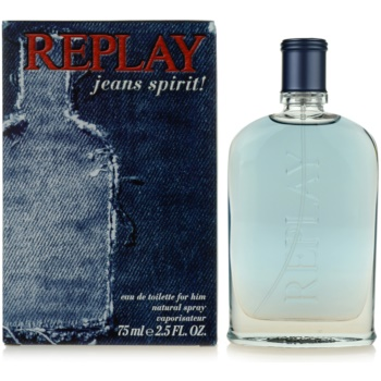 Replay Jeans Spirit! For Him eau de toilette pentru barbati 75 ml