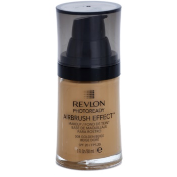Revlon Cosmetics Photoready Airbrush Effect™ make up lichid  SPF 20 culoare 008 Golden Beige 30 ml