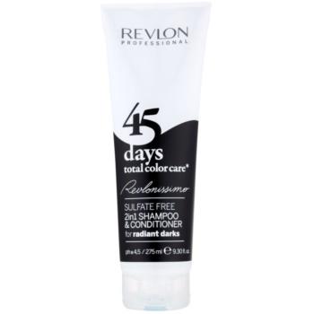 revlon professional revlonissimo color care 2 în 1 șampon și balsam pentru păr foarte închis și negru